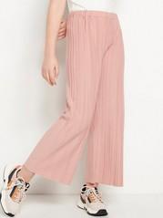 Široké zkrácené kalhoty Korálová
