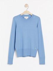 Jemně pletený svetřík Modrá