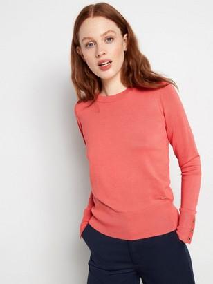 Finstickad tröja Rosa