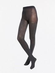 Třpytivé punčochové kalhoty Černá