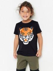 Svart t-shirt med tiger Svart