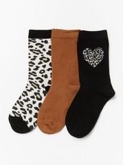 3-pakning med sokker Brun