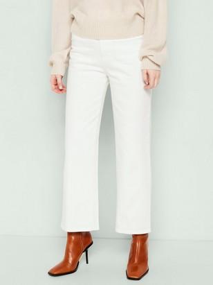 HANNA Vida high waist-jeans med croppat ben Vit
