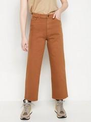 HANNA Vida high waist-jeans med croppat ben Brun