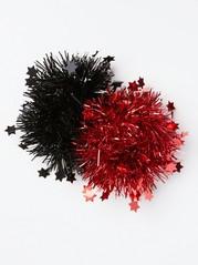 Kimaltavat hiusdonitsit, 2 kpl Punainen