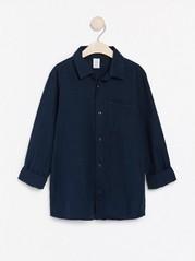Tmavě modrá košile Modrá