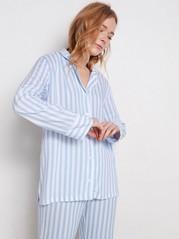 Randig pyjmasskjorta Blå