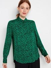 Mönstrad visksosskjorta Grön