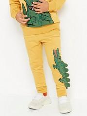 Gul joggebukse med krokodille Gul
