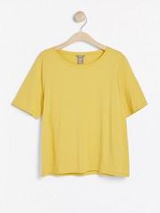 Kortärmad t-shirt i bomull Gul