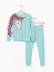 Turkos pyjamas med enhörning Aqua