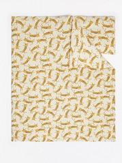 Leopardikuvioitu vauvan pussilakanasetti trikoota Keltainen