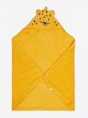 Gult badehåndkle med leopardhette Gul