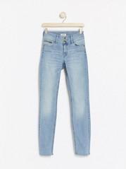 LILLY Ljusblå slim fit shaping jeans Blå