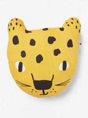 Keltainen leopardityyny Keltainen