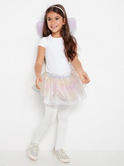 Kostymesett med skjørt og vinger Rosa