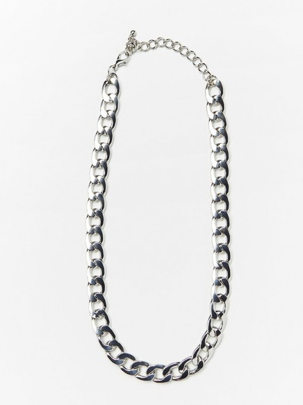 Chunky halsband med kedja  Metallic