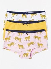 Leopardikuvioiset alushousut, 3 kpl Keltainen
