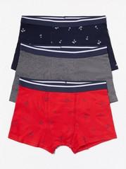 3-pack boxershorts Blå