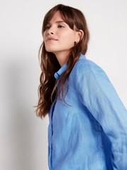 Skjorta i linne Blå