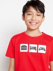 Röd kortärmad t-shirt Röd
