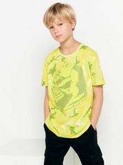 Tričko sgumovým potiskem Žlutá