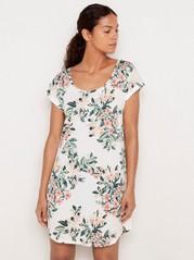 Květovaná noční košile Bílá