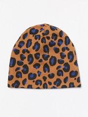 Leopardikuvioitu trikoopipo Ruskea