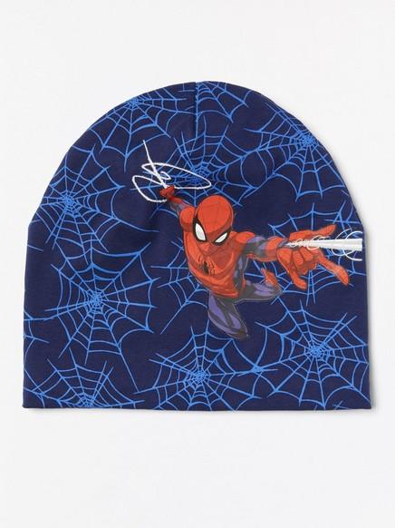 Žerzejová čepice Spiderman Modrá