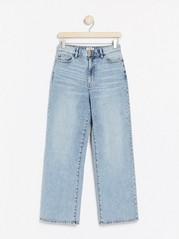 HANNA Vida high waist-jeans med croppat ben Blå