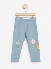 Blå leggings med luftballonger och borstad insida Blå