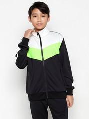 WCT-jakke med glidelås med fargeblokker Svart