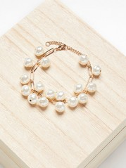 Armbånd med perler Hvit