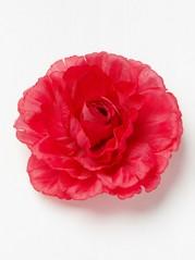 Hårspänne med röd blomma Röd