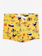 Keltaiset kuviolliset uimahousut Keltainen
