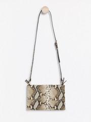 Väska med smal axelrem Beige