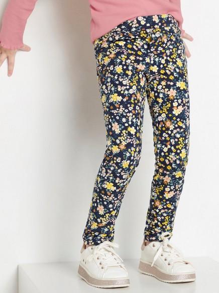 Blomstermønstret leggings Blå