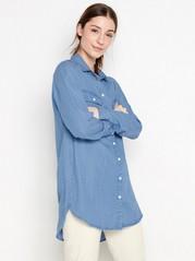 Jeansskjorta i lyocell Blå