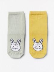 2-pakning med sokker med kaniner Grønn