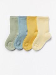 Sada 4párů ponožek Žlutá