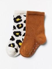2-pakning med sokker Brun