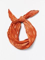 Plissert satengskjerf Oransje