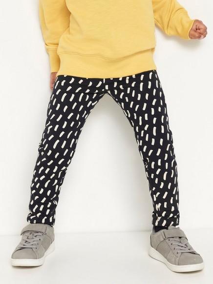 Kuvioidut leggingsit, joissa harjattu sisäpuoli Musta