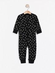 Vzorované pyžamo Černá
