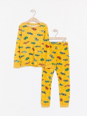 Žluté pyžamo sauty Žlutá