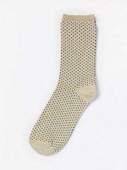 Sokker med lurex og små prikker Metall