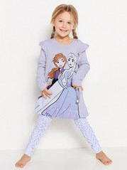 Lila pyjamas med Frost-tryck Lila