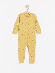 Pyjamas med biemønster Gul
