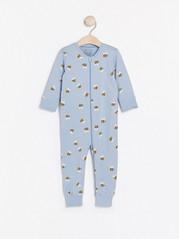 Pyjamas med biemønster Blå