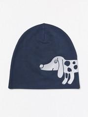 Trikoopipo, jossa heijastava koirapainatus Sininen